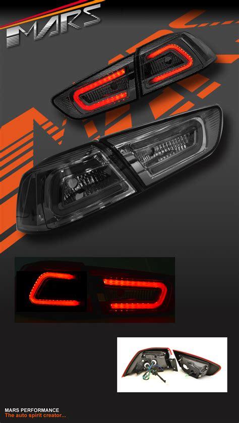 evo x tail lights varis full smoked led tail lights for mitsubishi lancer cj