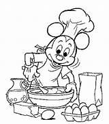 Coloring Pages Cooking Kitchen Baking Printable Koken Kleurplaat Bakken Mouse Mickey Disney Google Van Colouring Kleurplaten Adult Cook Bakery Tekeningen sketch template