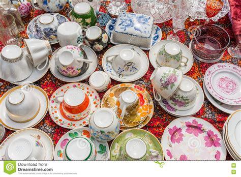 vaisselle de cuisine vieux marché aux puces de vaisselle de cuisine plats