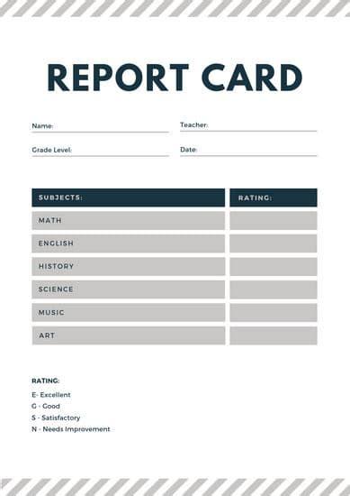 customize  homeschool report card templates  canva