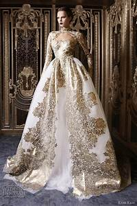 Gold wedding dresses with sleeves dresses trend for Gold wedding dresses with sleeves