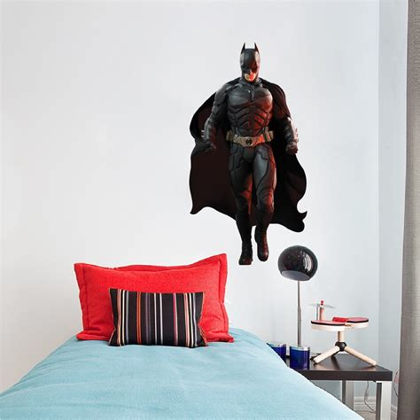 batman wall decal superhero wall design  dark