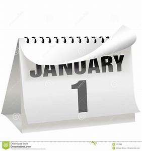 Neue Jahre Tageskalender Dreht Seite 1 Januar Vektor