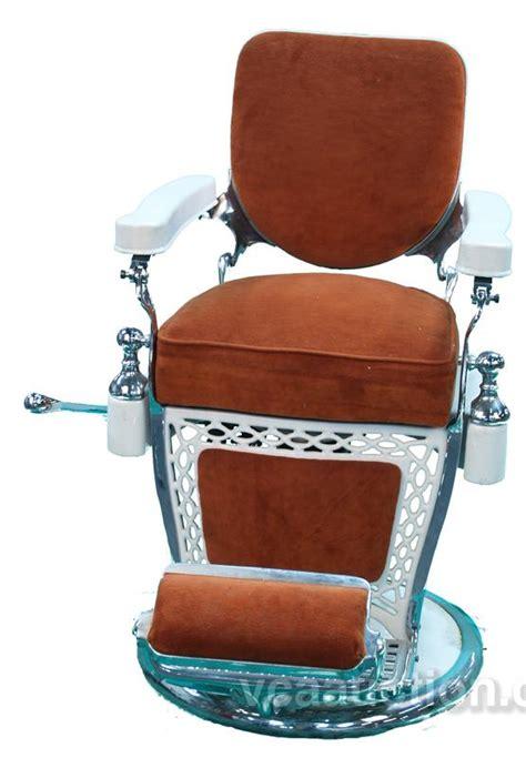 Emil J Paidar Barber Chair by Emil J Paidar Barber Chair White Porcelain W Burnt Or