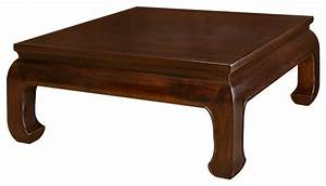 Elmwood Ming Style Square Coffee Table - Asian - Coffee