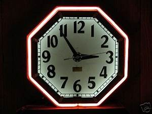 Vintage Neon Clock Repair Bing images