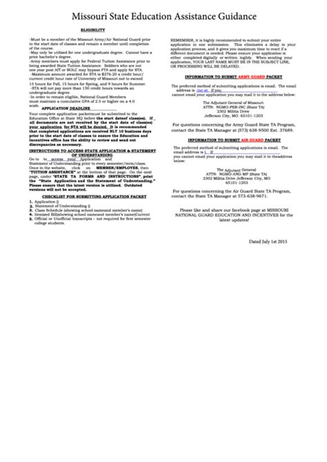 top 9 tuition assistance form templates free to
