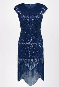 Robe Année 20 Vintage : robe charleston vintage sequins ~ Nature-et-papiers.com Idées de Décoration