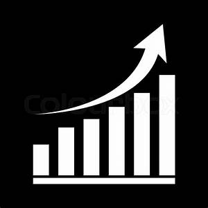 Vector Growing Graph Icon  White On
