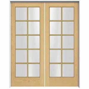 Jeld wen woodgrain 10 lite unfinished pine prehung for Home depot interior french door
