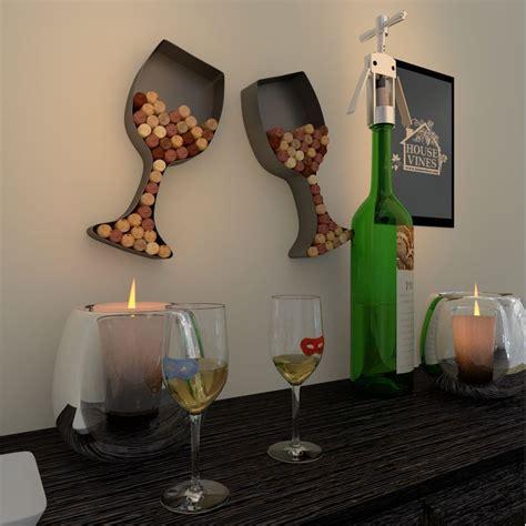 wine glass shaped cork holder wine wall d 233 cor art