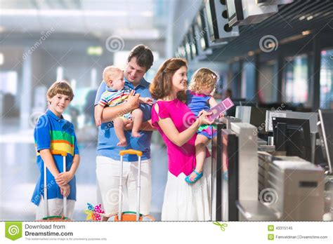 Family At The Airport Stock Photo  Image 43315145