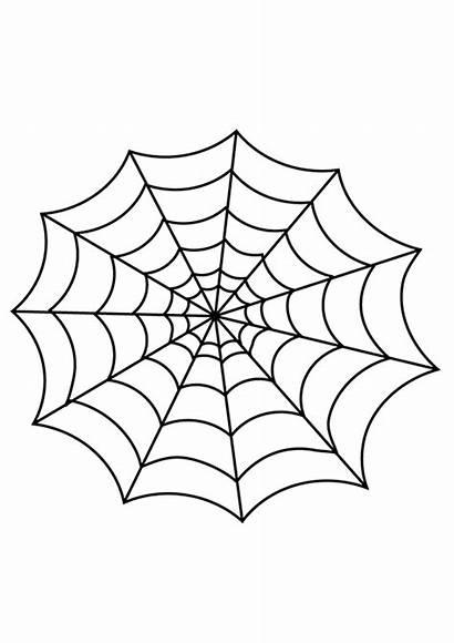 Web Spider Halloween Glue Decorations Template Glitter