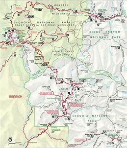 Map Of Kings Canyon