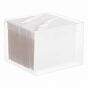 Stacking Acrylic Hanging File Box