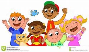 Five happy kids smiling stock vector. Illustration of ...