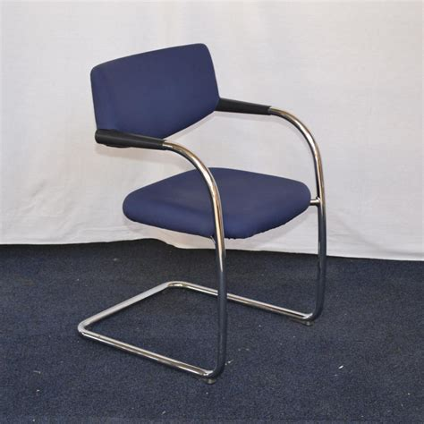 vitra vis a vis blue chrome meeting chair