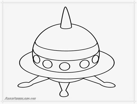 mewarnai gambar pesawat luar angkasa anak cemerlang