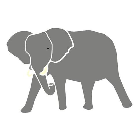 Elephant Stencil for Painting Kids or Baby Room Wall Mural