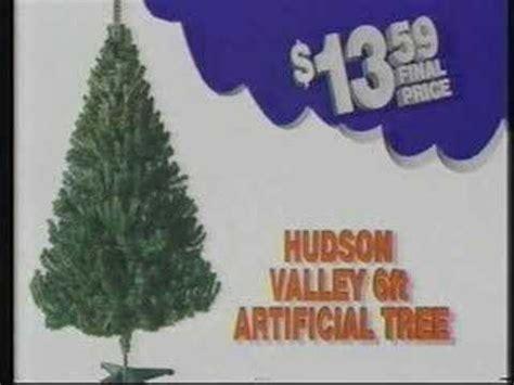hudson bay christmas tree ads caldor commercial 1995