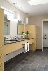 Trendy, And, Refreshing, Gray, And, Yellow, Bathrooms, That, Delight