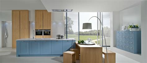 cuisine d allemagne cuisine d 39 allemagne en bleu agate et chêne naturel photo