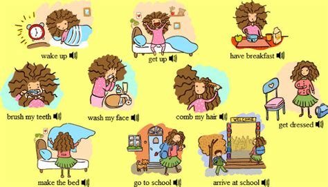 English Is Funtastic Daily Routine Vocabulary  Listening Comprehension Exercises I