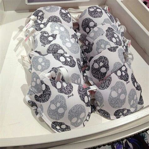 Bra Victoria Secret Pink Collection Skull