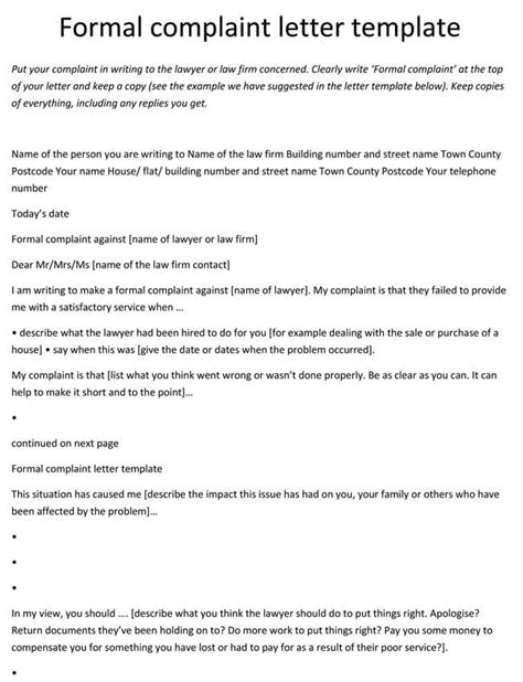 10+ Complaint Letter Templates - Samples in Word & PDF Format