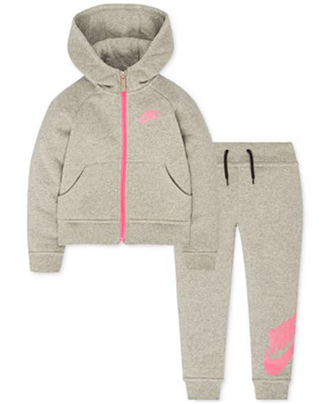 Nike 2-Pc. Hoodie u0026 Jogger Pants Set Toddler u0026 Little Girls (2T-6X) - Sets u0026 Outfits - Kids ...