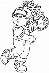 Coloring Cabbage Patch Printable Template Doll Sheets Picasaweb sketch template