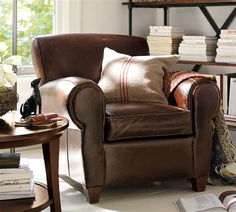 pottery barn leather sofas sectionals chairs 15 sale