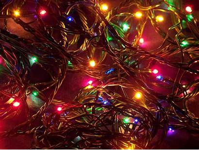 Christmas Lights Storing Holiday Background Desktop Xmas