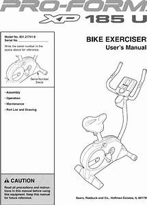 Proform Xp 185 U Exercise Bike Manual