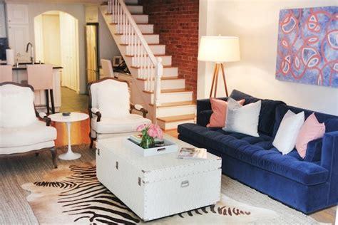 blue velvet sofa living room blue velvet sofa contemporary living room the every