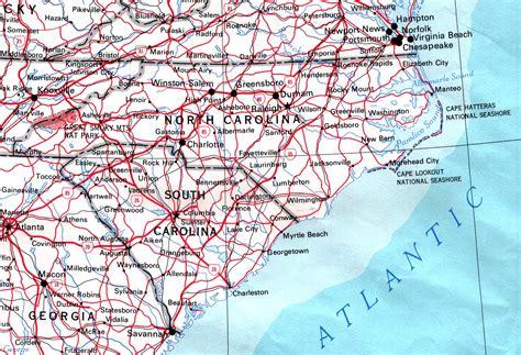 Map Of North Carolina Road Map
