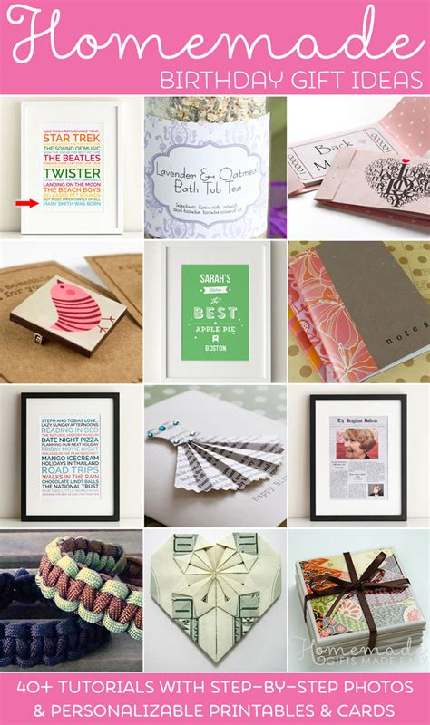 birthday gifts for homemade birthday gifts ideas instructions