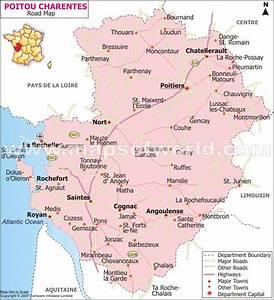 Poitiers Carte De France : poitou charentes road map france ~ Dailycaller-alerts.com Idées de Décoration