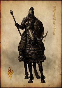 Mongol heavy cavalry-man, concept drawing | Illustration ...