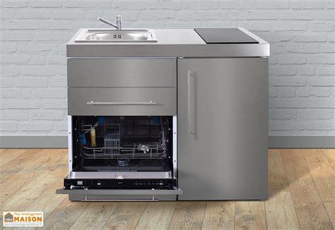 mini cuisine pour studio mini cuisine inox avec lave vaisselle et vitrocéramiques