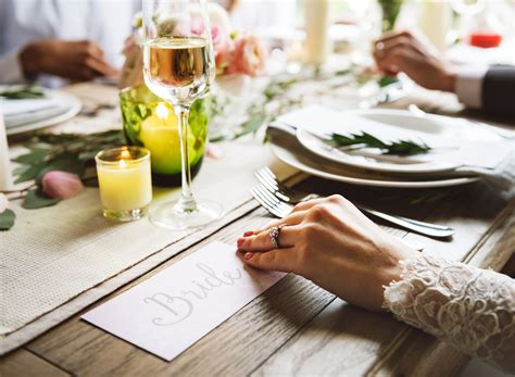 woman preparing christmas table  stock photo