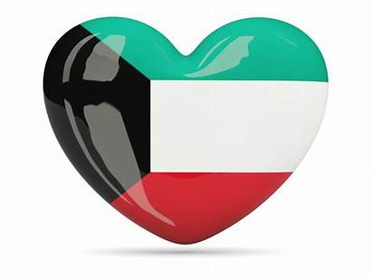 Kuwait Heart Icon Flag Commercial Non