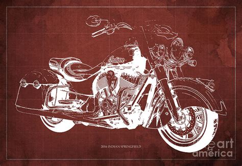 Indian Springfield Image by 2016 Indian Springfield Motorcycle Blueprint