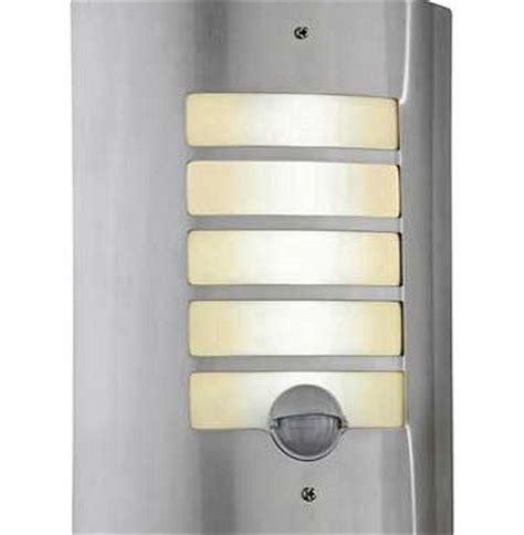 argos value range stainless steel pir wall light review