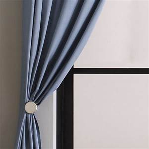 Metal pin holdbacks modern curtain rods by west elm for Modern curtain holdbacks