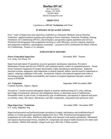 Resume For Hvac Mechanic by 925 Best Exle Resume Cv Images On