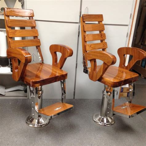 Reupholster Boat Captains Chair by Sea Furniture Sea Marine Hardware Helm Chairs