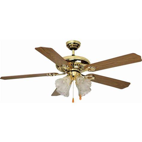 Aloha Breeze 52 Dual Mount Bright Brass Ceiling Fan