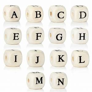 doreenbeads quotaquot to quotnquot single letter wood spacer beads With wooden letter beads wholesale