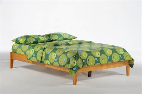 basic bed frame night day futon dor natural